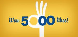 Wow! 5,000 likes!